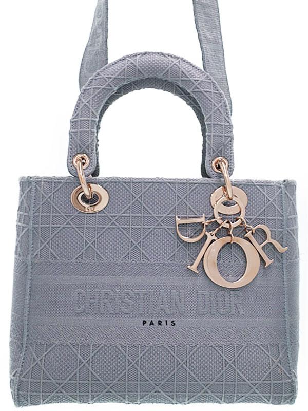 【Christian Dior】【LADY D-LITE】【カナージュ】『レディ ディ ライト ミディアム 2WAYハンドバッグ』M0565OREY 1週間保証【中古】
