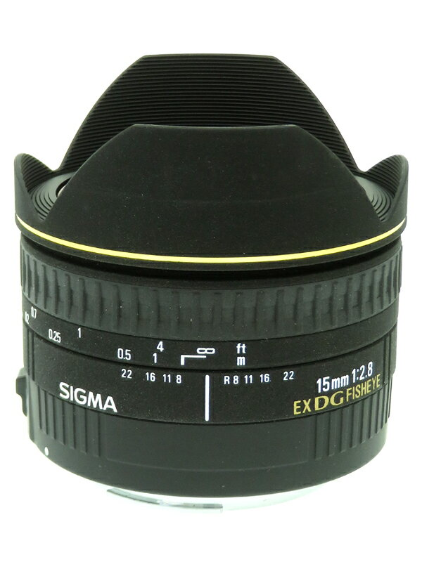 【SIGMA】シグマ『15mm F2.8 EX DG DIAGONAL FISHEYE キヤノンEFマウント』魚眼 デジタル一眼レフカメラ用レンズ 1週間保証【中古】
