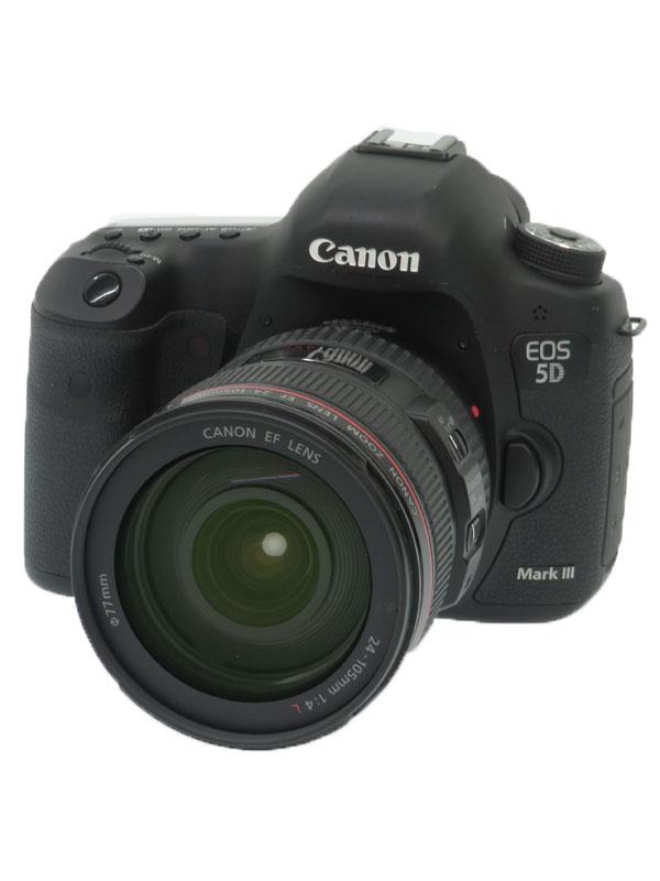 【Canon】キヤノン『EOS 5D Mark III EF24-105mm F4L IS USM レンズキット』5260B008 デジタル一眼レフカメラ 1週間保証【中古】