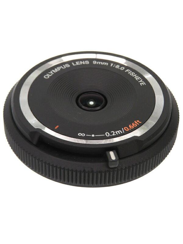 【OLYMPUS】オリンパス『フィッシュアイボディーキャップレンズ 9mm F8.0 Fisheye ブラック』BCL-0980 魚眼 1週間保証【中古】