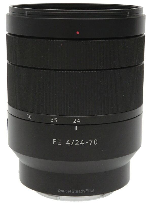 【SONY】ソニー『Vario-Tessar T* FE 24-70mm F4 ZA OSS』SEL2470Z Eマウント フルサイズ対応 デジタル一眼カメラ用レンズ 1週間保証【中古】