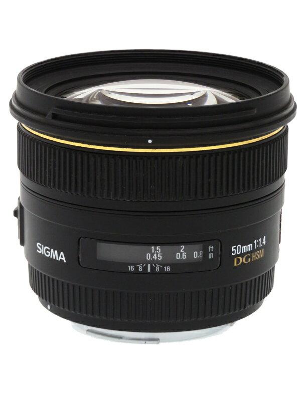 【SIGMA】シグマ『50mm F1.4 EX DG HSM キヤノンEFマウント』フルサイズ対応 デジタル一眼レフカメラ用レンズ 1週間保証【中古】