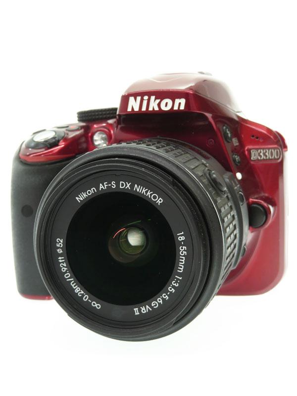 【Nikon】ニコン『D3300 18-55 F3.5-5.6G VRII レンズキット』2014年 2416万画素 DXフォーマット SDXC デジタル一眼レフカメラ 1週間保証【中古】