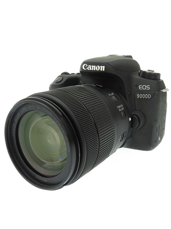 【Canon】キヤノン『EOS 9000D EF-S18-135 IS USMレンズキット』2420万画素 EF-S フルHD動画 SDXC デジタル一眼レフカメラ 1週間保証【中古】