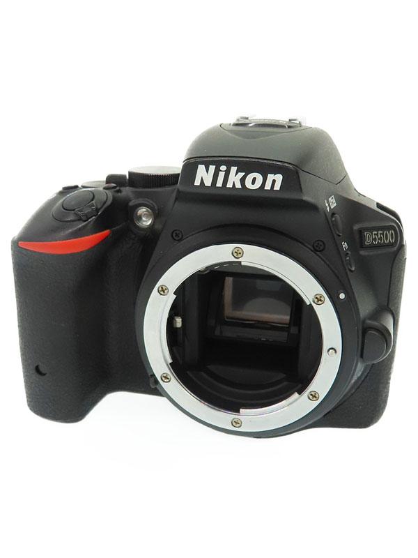 【Nikon】ニコン『D5500 ボディ ブラック』2416万画素 DXフォーマット SDXC フルHD動画 デジタル一眼レフカメラ 1週間保証【中古】