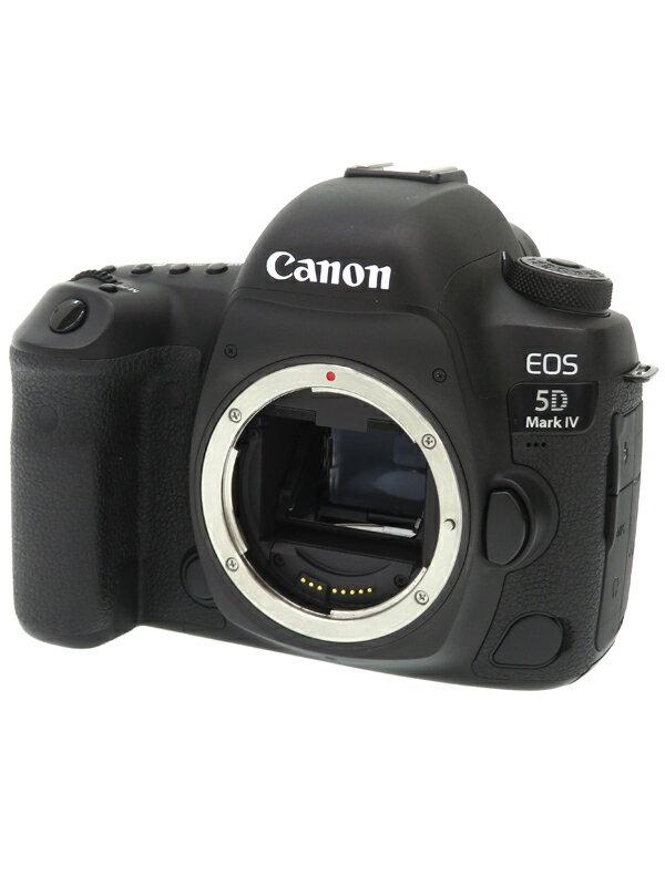【Canon】キヤノン『EOS 5D Mark IV ボディー』3040万画素 フルサイズ 4K動画 CF/SDXC デジタル一眼レフカメラ 1週間保証【中古】