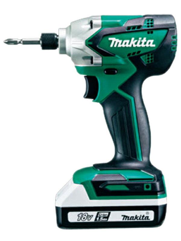 【makita】マキタ『18V 充電式インパクトドライバ ライトバッテリ2本/充電器/ケース付』MTD002DSX 1週間保証【中古】