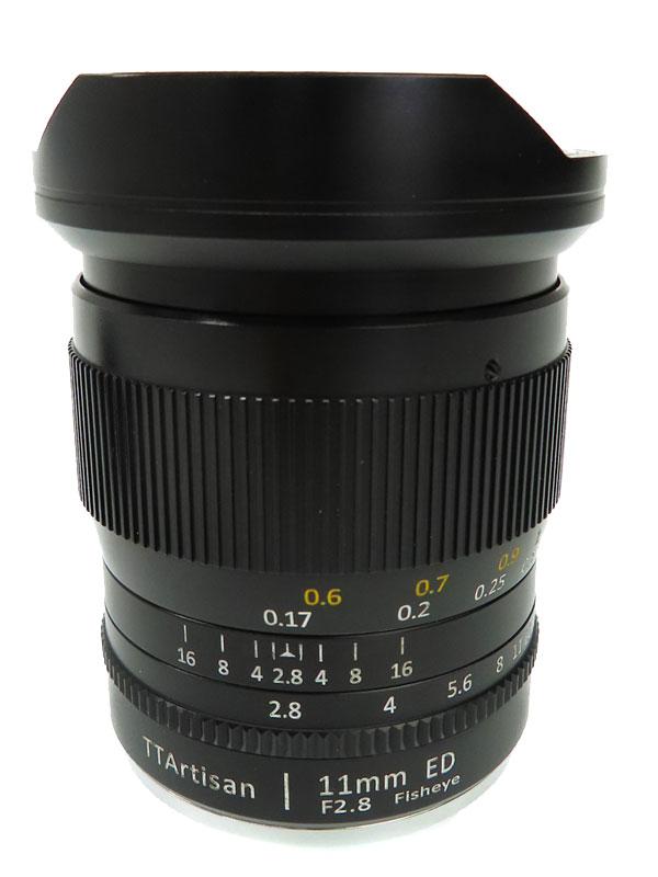 【銘匠光学】【魚眼レンズ】めいしょうこうがく 『TTArtisan 11mm f/2.8 Fisheye ソニーEマウント用』レンズ 1週間保証【中古】
