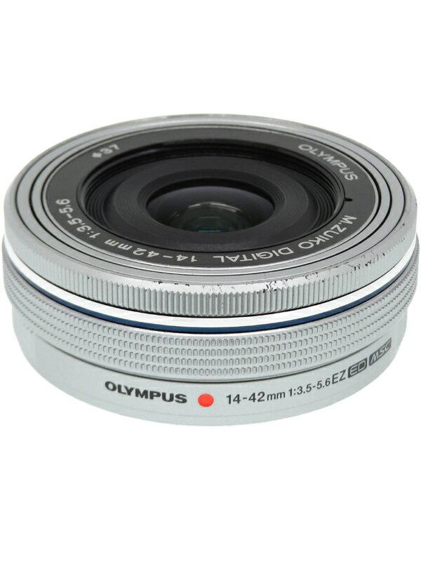 【OLYMPUS】オリンパス『M.ZUIKO DIGITAL ED 14-42mm F3.5-5.6 EZ シルバー』28-84mm相当 ミラーレス一眼カメラ用レンズ 1週間保証【中古】