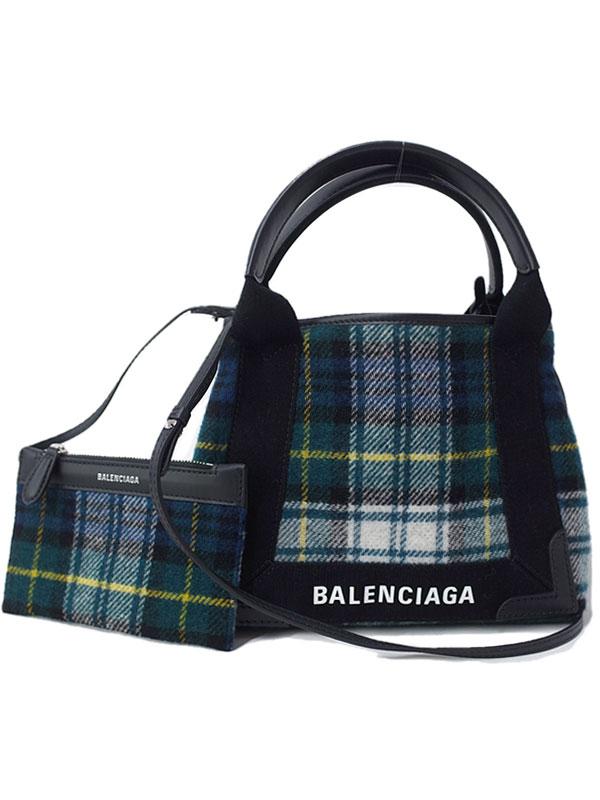 【BALENCIAGA】バレンシアガ『ネイビーカバス XS』390346 レディース 2WAYバッグ 1週間保証【中古】
