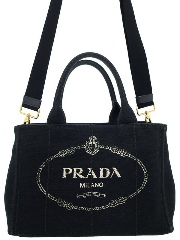 【PRADA】プラダ『ミニカナパ 2WAYハンドバッグ』レディース 2WAYバッグ 1週間保証【中古】