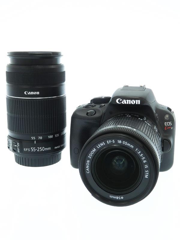 【Canon】キヤノン『EOS Kiss X7ダブルズームキット』KISSX7-WKIT 2013年 1800万画素 デジタル一眼レフカメラ 1週間保証【中古】