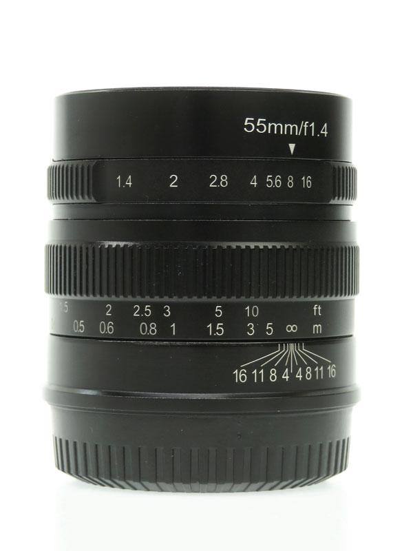 【七工匠】ノーブランド『7Artisans 単焦点レンズ 55mm F1.4 FUJIFILM Xマウント』5514FXB 1週間保証【中古】