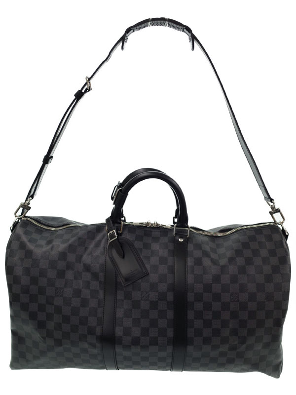 【LOUIS VUITTON】【旅行用ボストンバッグ】ルイヴィトン『ダミエ グラフィット キーポル バンドリエール55』N41413 メンズ 2WAYバッグ 1週間保証【中古】