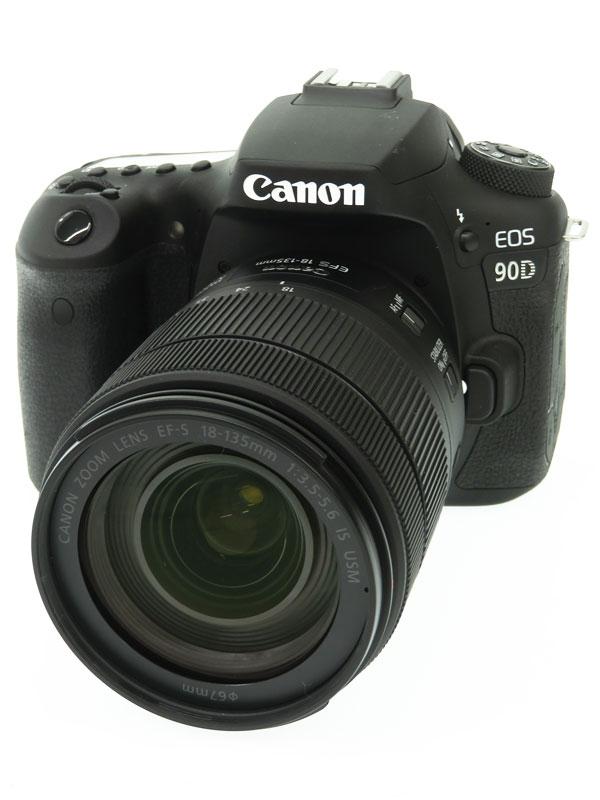 【Canon】キヤノン『EOS 90D EF-S18-135 IS USM レンズキット』3250万画素 EF-S 4K動画 SDXC デジタル一眼レフカメラ 1週間保証【中古】