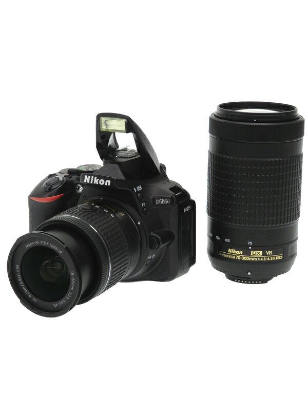 【Nikon】ニコン『D5600ダブルズームキット』2416万画素 DXフォーマット フルHD動画 SDXC デジタル一眼レフカメラ 1週間保証【中古】
