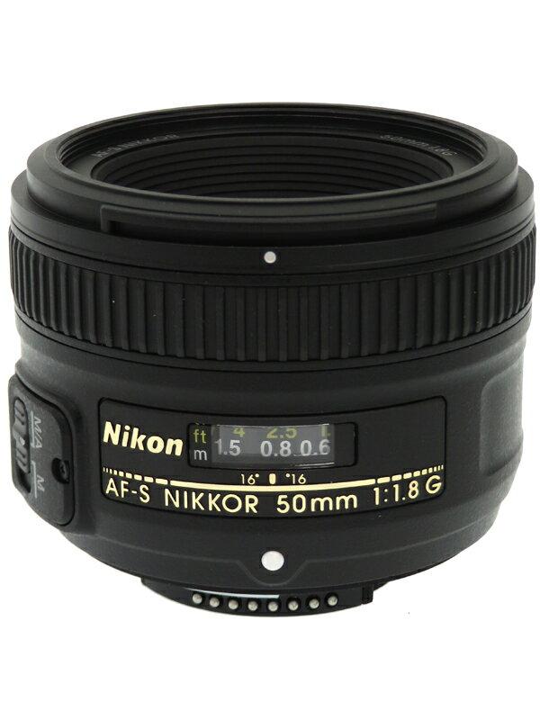 【Nikon】ニコン『AF-S NIKKOR 50mm f/1.8G』FXフォーマット 標準 一眼レフカメラ用レンズ 1週間保証【中古】