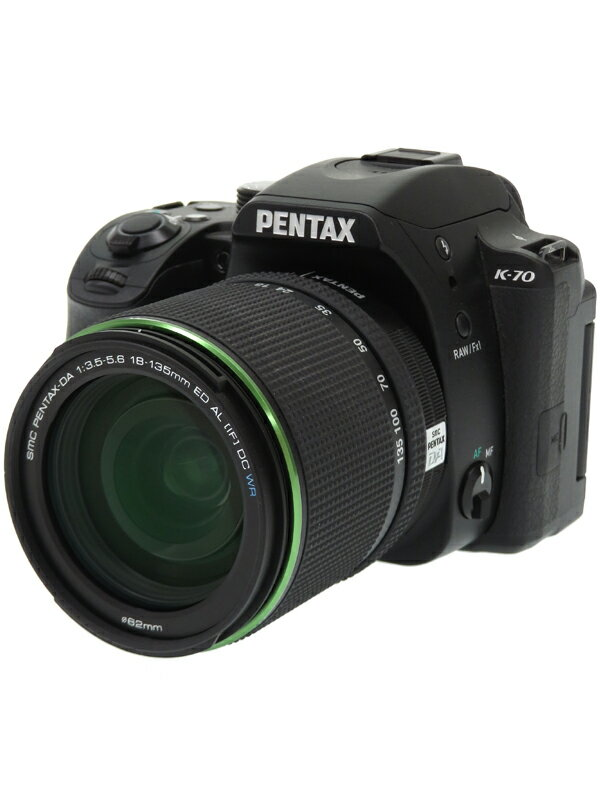 【RICOH】リコー/ペンタックス『PENTAX K-70 18-135WR キット ブラック』2424万画素 APS-C フルHD動画 デジタル一眼レフカメラ 1週間保証【中古】