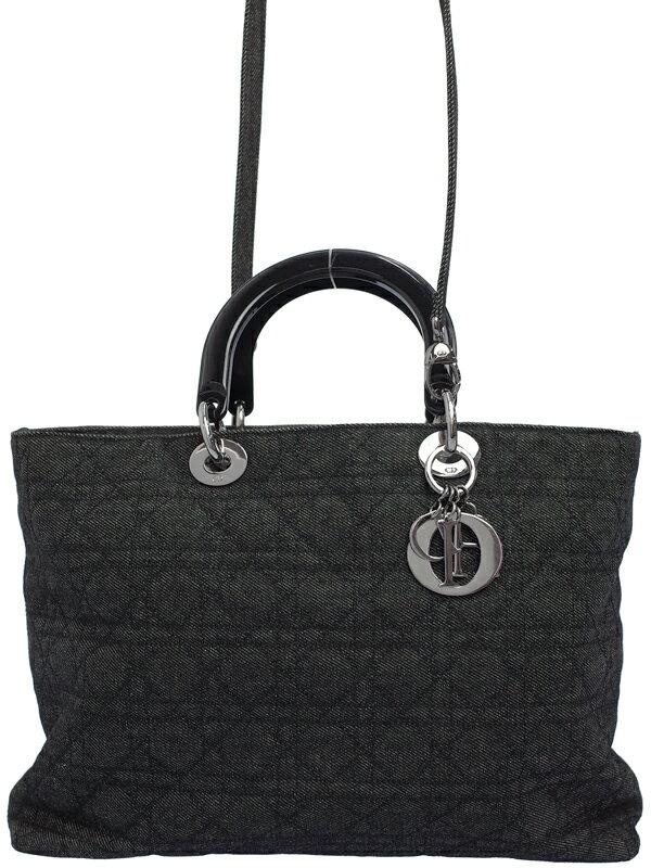 【Christian Dior】クリスチャンディオール『カナージュ デニム 2WAYトートバッグ』レディース 2WAYバッグ 1週間保証【中古】