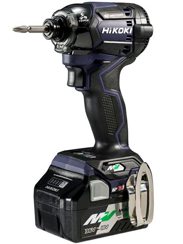【HiKOKI】ハイコーキ『マルチボルト(36V)コードレスインパクトドライバ ディープオーシャンブルー 急速充電器・ビット別売』WH36DC(2XND) 1週間保証【新品】