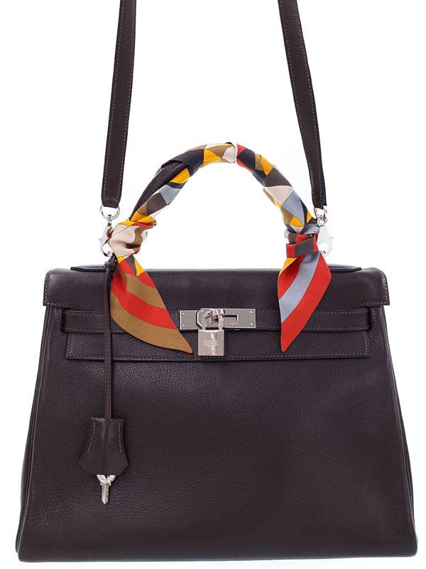 【HERMES】【シルバー金具】エルメス『ケリー32 内縫い』□H刻印 2004年製 レディース 2WAYバッグ 1週間保証【中古】