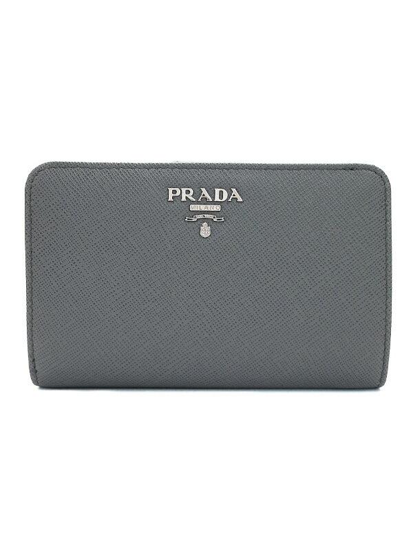 【PRADA】プラダ『サフィアーノレザー財布』1ML225 レディース L字ファスナー短財布 1週間保証【中古】