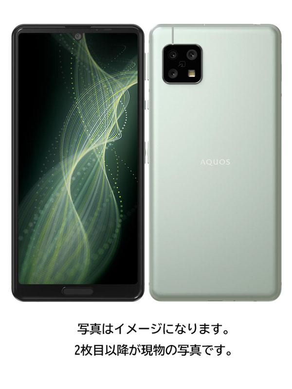 【SHARP】【アクオス】シャープ『AQUOS sense5G 64GB SIMロック解除済 ソフトバンク オリーブシルバー』A004SH 2021年2月発売 スマートフォン 1週間保証【中古】