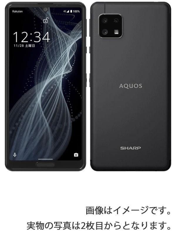 【SHARP】【アクオス】シャープ『AQUOS sense4 lite 64GB SIMフリー 楽天モバイル ブラック』SH-RM15 2020年11月発売 スマートフォン 1週間保証【中古】