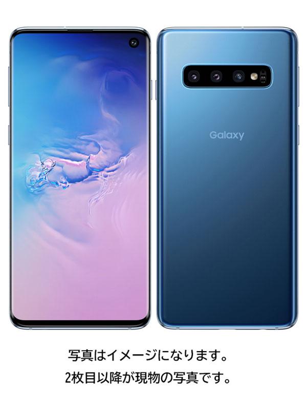 【SAMSUNG】【ギャラクシー】サムスン『Galaxy S10 128GB SIMロック解除済 au プリズムブルー』SCV41 2019年5月発売 スマートフォン 1週間保証【中古】