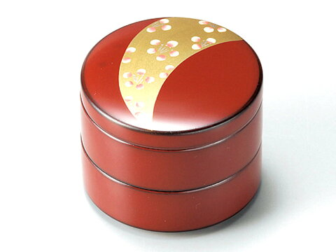 金帯梅 小物入れ 古代朱 1個:日本製 和風 ピアス ジュエリー おしゃれ かわいい 御祝 記念品 誕生日 プレゼント ギフト