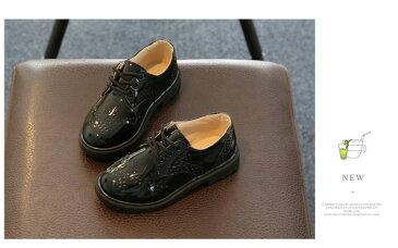 【全2色・13サイズ】フォーマル靴 エナメル 男の子 子供靴 革靴 キッズ シューズ 女の子 男女兼用 カジュアル 卒業式 入学式 子供フォーマル 結婚式 発表会 入園式 フリンジ 紐靴 フェイクレザーの紐履