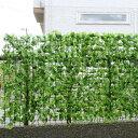 【送料無料】目隠しネット フェイクグリーン リーフフェンス グリーンフェンス 日除け ベランダ 庭 風通し ロール式 200×90
