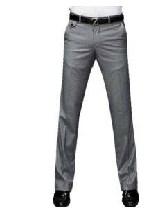 ビジネスカジュアル 紳士 スリム メンズスーツパンツ/ロングパンツ/長ズボン通勤パンツ/ スラックス/ノーアイロン長ズボン