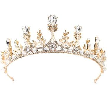 ヨーロッパスタイル 結婚小物セット ウェディングドレスアクセサリー ティアラ ブライダル花嫁用 ヘアバンド髪飾り キラキラストーン 女王王冠 ウェディングティアラ 結婚式 、披露宴、ヘッドアクセ  アクセサリー ブライダル・パーティ 大人用髪飾り
