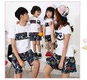 【3点送料無料!】親子お揃い 半袖 Tシャツ メンズ レディ...