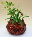由布竹花篭 ここのえ 国産 日本製 竹製 花を彩る インテリア 部屋が...