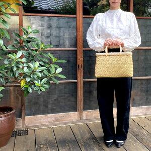 お買物かご 小 角 35cm×17cm×21cm 国産 日本製 竹製 小物入れ バスケット買い物 ショッピング おしゃれ ギフト 夏 丈夫