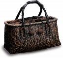 在庫要確認 網代編み ファッションバッグ W32cm×D11cm×H16cm+13cm 国産 日本製 別府産 かごバッグ 籐 カゴ 木 組み紐 綿 天然素材 …