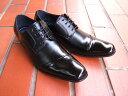 洗練された都会派ビジネスマンにオススメの1足♪メンフィスクラブ/MEMPHIS CLUB 紳士靴 ブラック ロングノーズ ビジネス 日本生産 送料無料