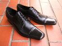 英国で培われた伝統のスタイルを正統継承!KATHARINE HAMNETT LONDON キャサリン ハムネット ロンドン紳士靴 31601 ブラック ストレートチップ スクエアトゥ 送料無料