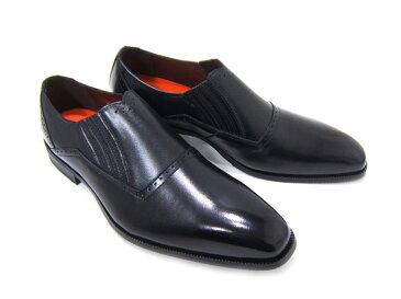 上品で遊び心ある大人の紳士ビジネスシューズ!YUKIKO HANAI/ユキコ ハナイ ビジネスYH-3308 紳士靴 ブラック スリップオン 紐なしプレーントゥ ビジネス 送料無料