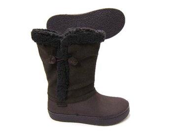 より洗練されたスリムなフィットのロングブーツ♪CROCS/クロックス モデッサ シンセティック スエード ボタン ブーツ送料無料 14777-22Z