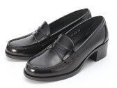 【送料無料】スクール靴として絶大な人気の定番モデル!HARUTA/ハルタ アービン 4603 ブラック ヒール ローファー