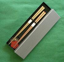 竹箸2膳と箸置きの箱入りセット『松竹梅』