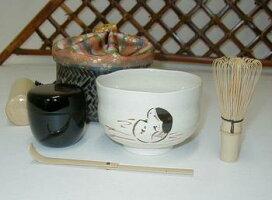 セット内容(お茶碗は、瓢箪、お多福、黒色からお選びいただけます)