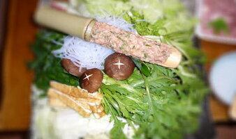 鍋パーティの主役♪竹のつみれ用セット(ヘラ付き)つみれ竹へらセット[竹製品]