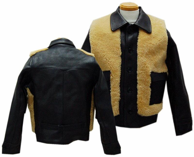 メンズファッション, コート・ジャケット HELLERS CAFE 1930s Sheepskin Horsehide Grizzly Sports Jacket