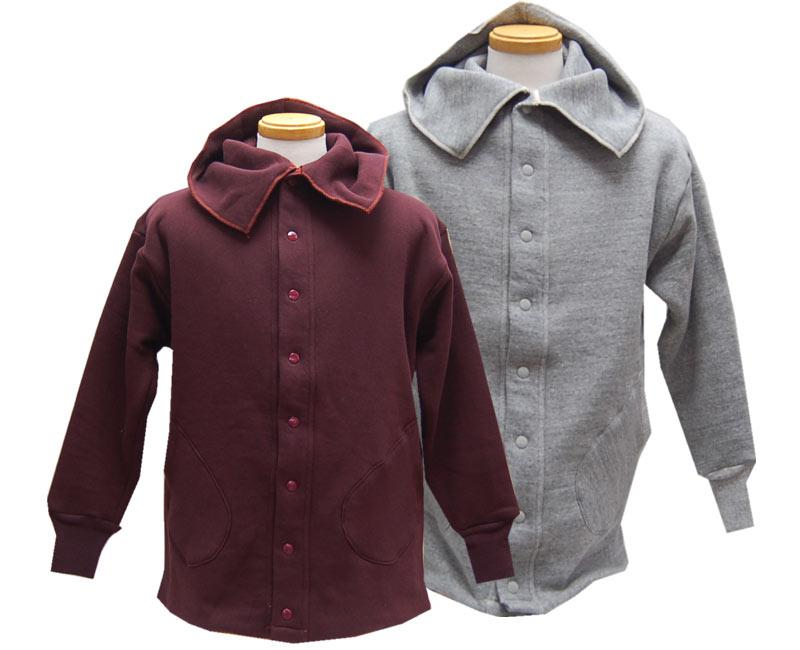 トップス, スウェット・トレーナー HELLERS CAFE Coat style Full Snap Double Face Sweatshirts