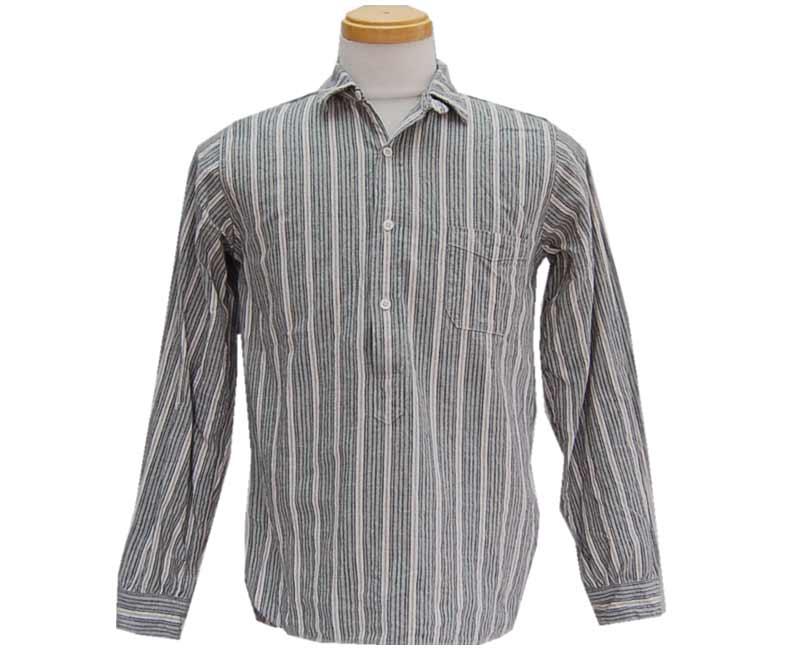 トップス, Tシャツ・カットソー HELLERS CAFE HELLERS CAFE1910s Multi-Stripe Brand Stripe PO smtb-kkb