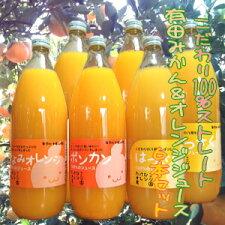みかんオレンジストレートジュース6本セット